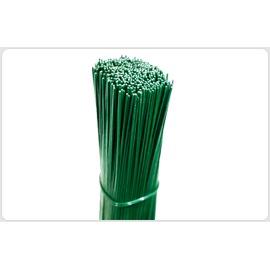Флористическая проволока (полистирол), d 0,45мм, зеленая, 10 шт.