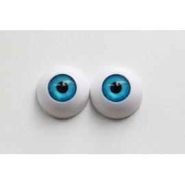 Глаза для кукол, полусфера (акрил) голубые