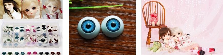 Глаза для кукол полусфера (акрил)