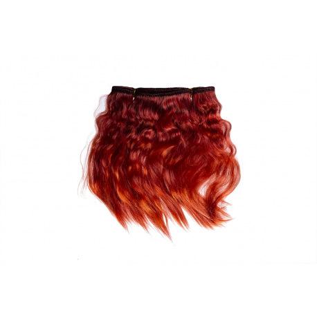 Тресс натуральный из волос ангорской козы (гранатовый).