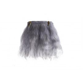 Тресс натуральный из волос ангорской козы (серебристый)