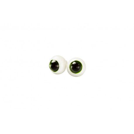 Глаза для кукол стеклянные (сфера), темно-зеленые.