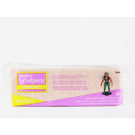 """Три пачки Super Sculpey Living Doll """"Beige"""" со скидкой в 15 %"""