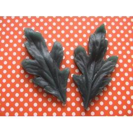 Силиконовый молд Лист Хризантемы 12х6 см.
