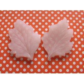 Силиконовый молд Лист Хризантемы 8х5,5 см.