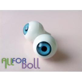Глазки для кукол, голубые (сфера)