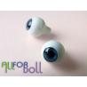 Глазки для кукол, (сфера) темно-синие.