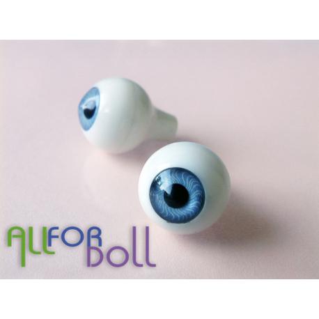 Глазки для кукол, серо-голубые (сфера)