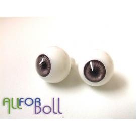 Глазки для кукол, дымчатые (сфера)