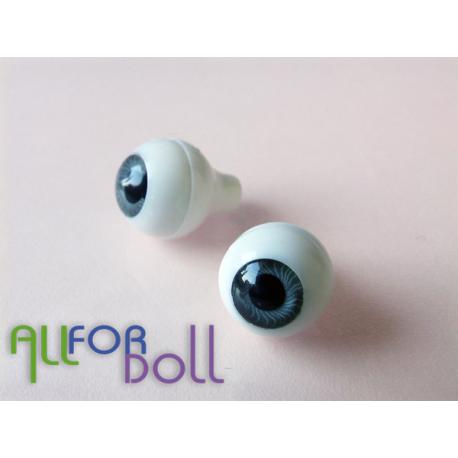 Глазки для кукол, серые (сфера)