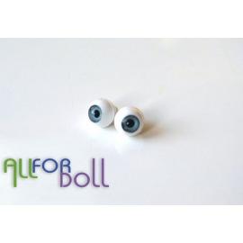 Глазки для кукол, лазурно-серые (сфера)