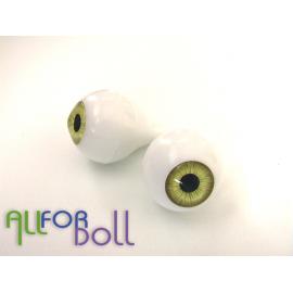 Глазки для кукол, желто-карие (сфера)