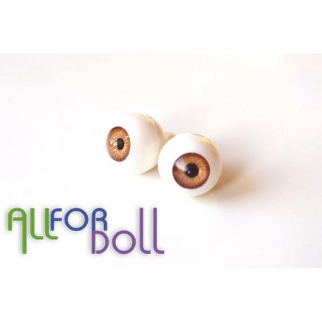 Глазки для кукол, медные (сфера)