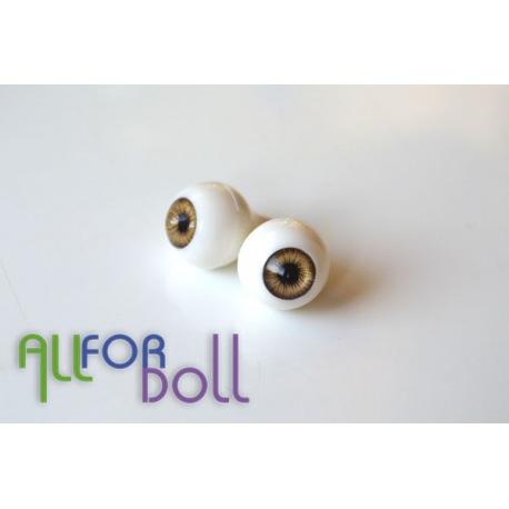 Глазки для кукол, светло-карие (сфера)