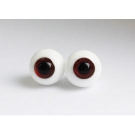 Глаза для кукол стеклянные(сфера), бордовые.
