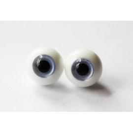 Глаза для кукол стеклянные (сфера), голубые.