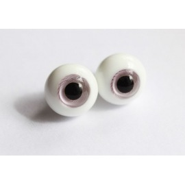 Глаза для кукол стеклянные (сфера), дымчато-лиловые.