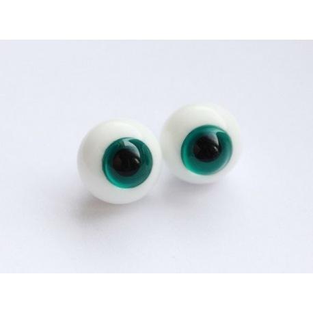 Глаза для кукол стеклянные (сфера), изумрудные.