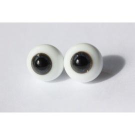 Глаза для кукол стеклянные (сфера), темно-синие.