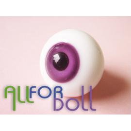 Глаза для кукол стеклянные (сфера), лавандовые