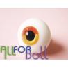 Глаза для кукол стеклянные (сфера), желто-оранжевые