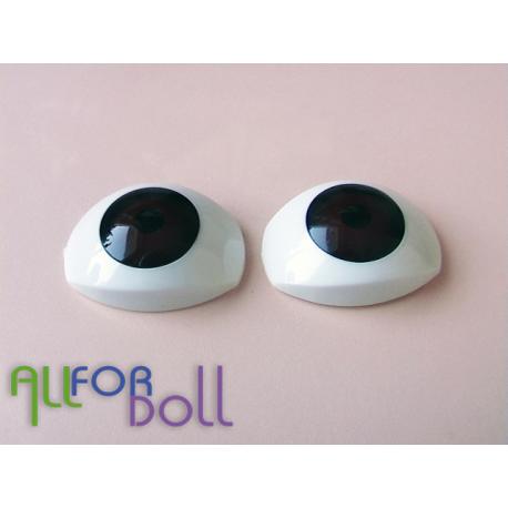 Глазки для кукол карие (овал)