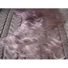 Тресс натуральный из волос ангорской козы (дымчато-лиловый).