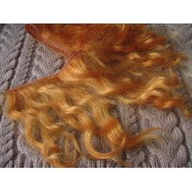 Тресс натуральный из волос ангорской козы (золотисто-рыжий).