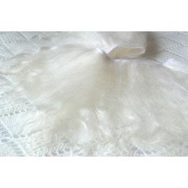 Тресс натуральный из волос ангорской козы (некрашеный блонд) длина ворса 23-25см