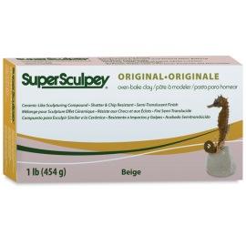 Super Sculpey ORIGINAL, упаковка 454 гр., цвет бежевый