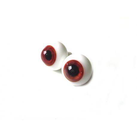 Глаза для кукол стеклянные(сфера), темно-карие.